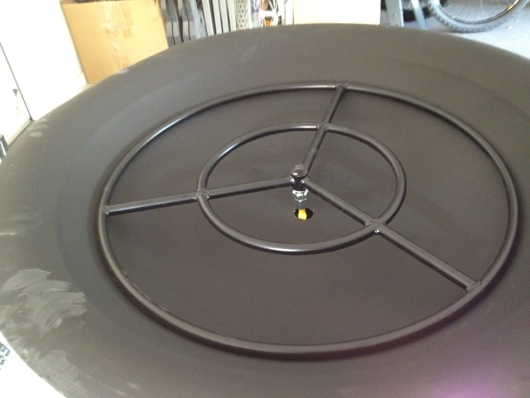 "24"" steel gas fire ring"