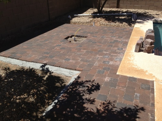 Pavers completed with mortar edging