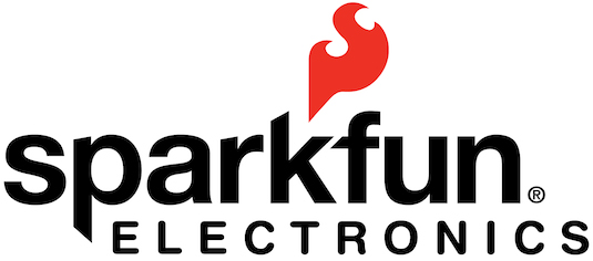 Official Logo of SparkFun Electronics. Excellent spreaders of electronic goodness and maker happiness.