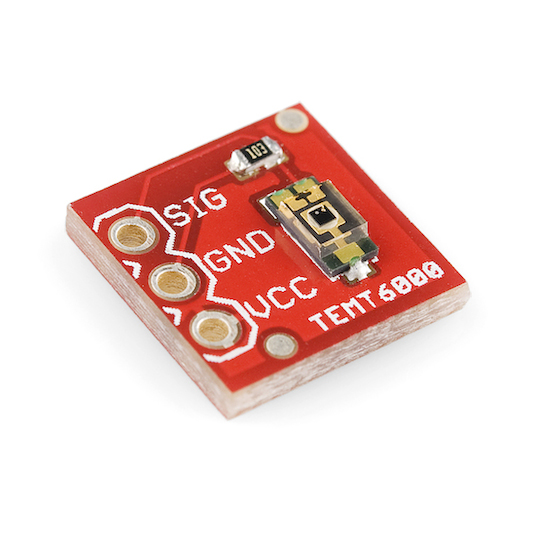 Vishay TEMT6000 Ambient Light Sensor Breakout Board from Sparkfun (Part Number BOB-08688)