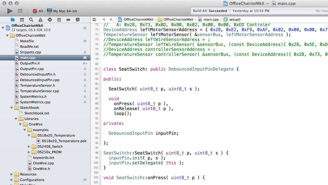 Arduino C++ development in Xcode on OS X