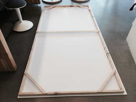Foam Core Support Frame Corner Braces on Foam Core