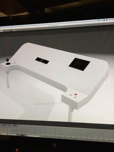 Office Chairiot Mk II Control Panel Mock-Up in Blender
