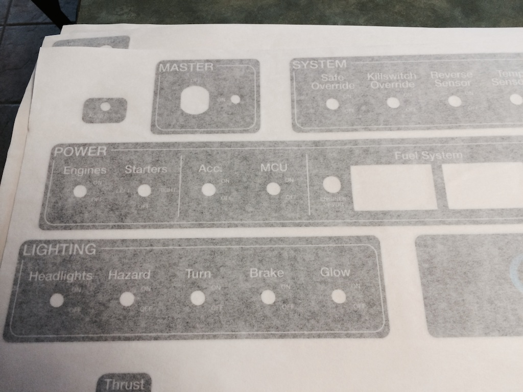Office Chairiot MK II Control Panel Decals