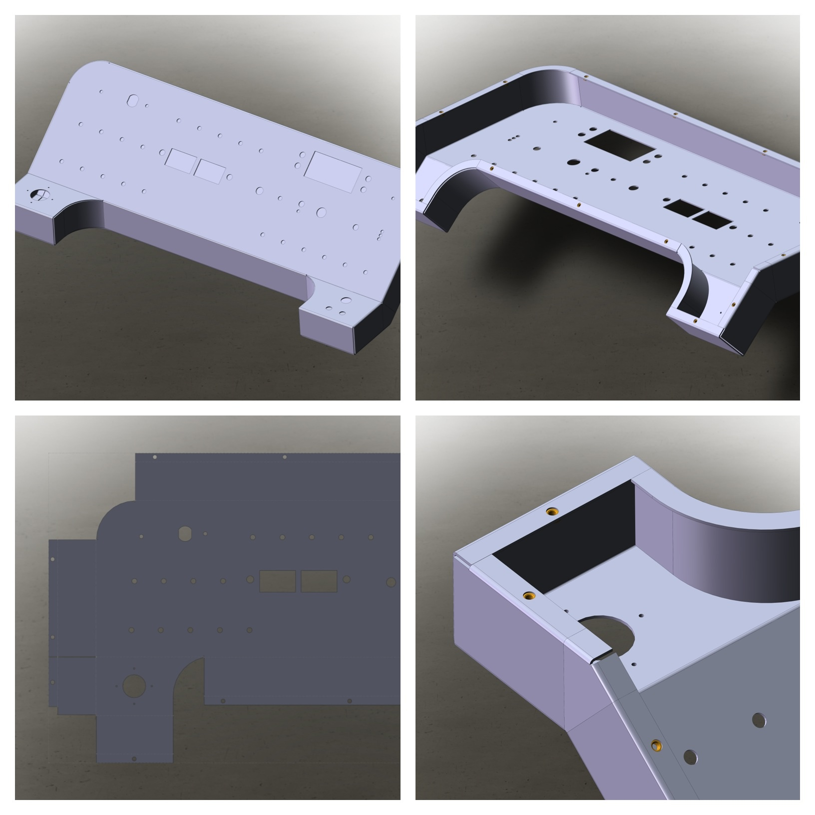 Office Chairiot Panel Enclosure in SolidWorks