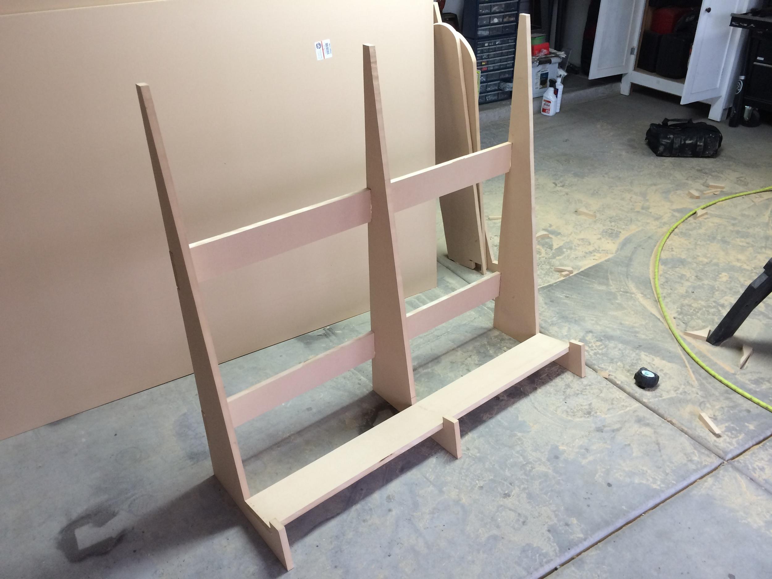4'x8' panel holder for garage