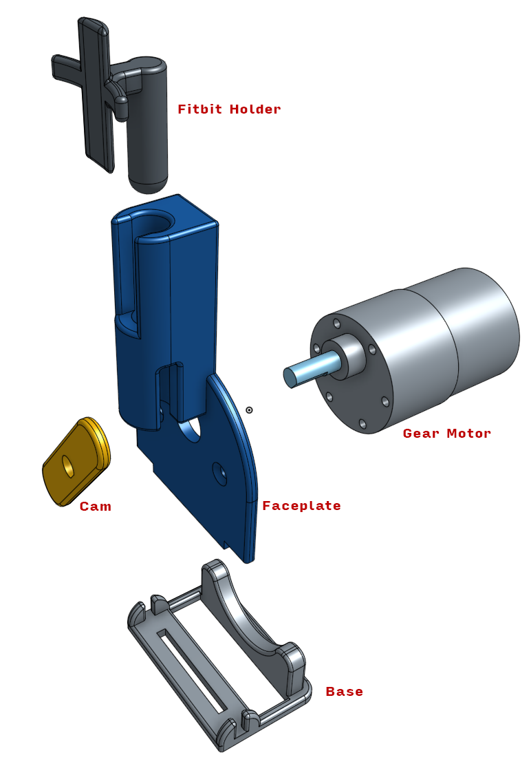 Exploded view of Fitbit Cheat-O-Matic 2