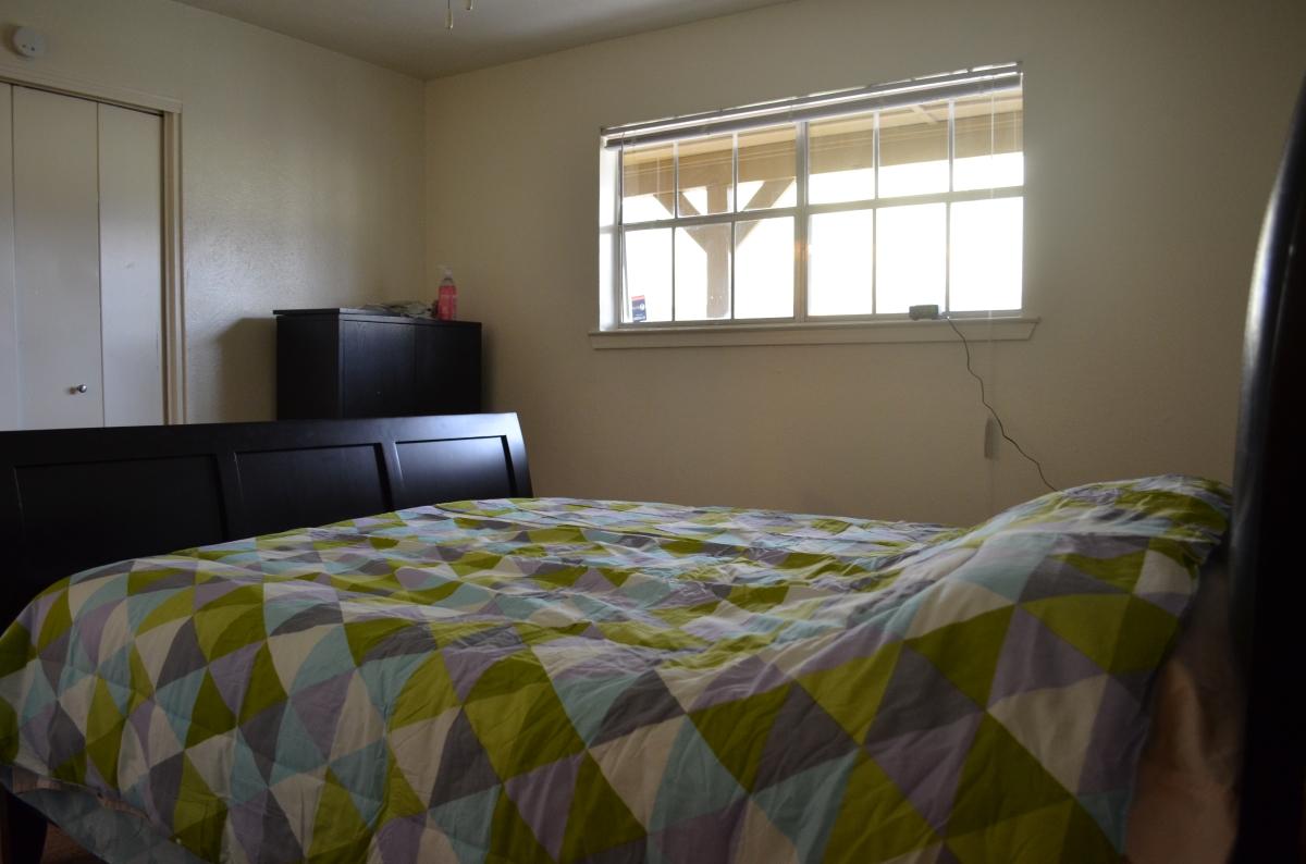 her bedroom complete:no more sleeping on the floor!