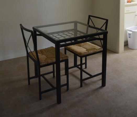a donated dining set