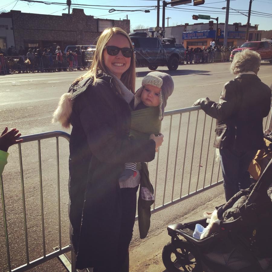 Today, at the Dallas MLK Parade.