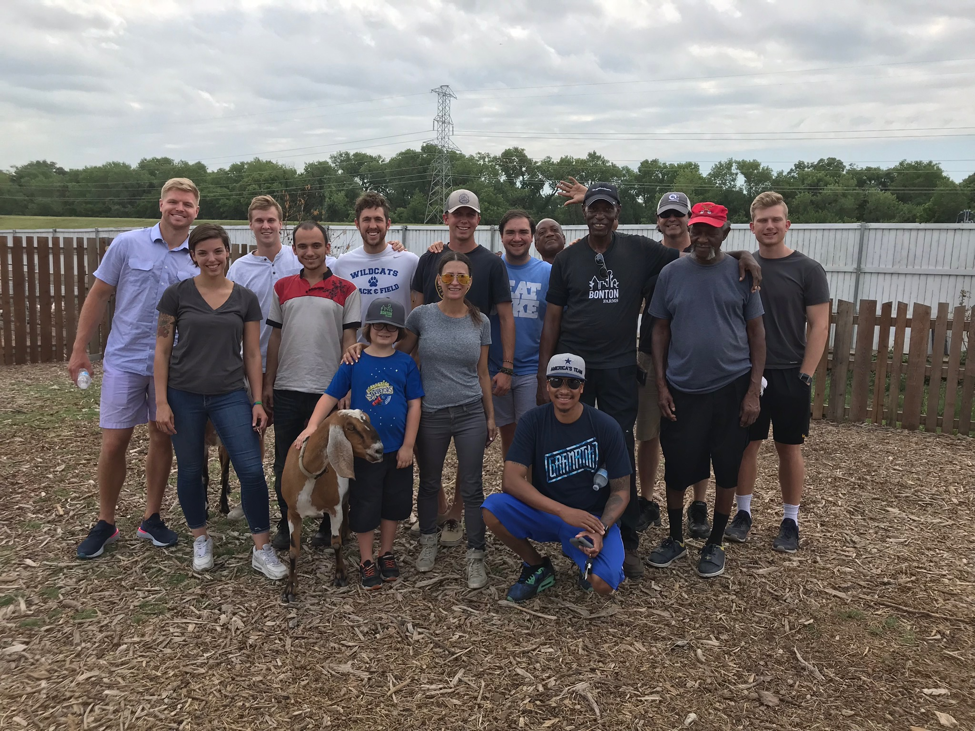 The Fellows @ Bonton Farms for a picnic with some of our currently and formerly homeless friends
