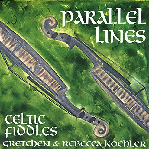 PARALLEL LINES - Gretchen & Rebecca Koehler/fiddles, Brandt Kronholm/guitar, Beth Robinson/cello, Matt Bullwinkel/piano, Ed Clark/percussion, Joel Foisy/percussion, Stuart Kenney/bodhranParallel Lines captures the sisters' joy of making music side by side. The multi-string arrangements of Celtic and New England contra dance tunes are at times whimsical, rocky, sultry, pensive, and jazzy without the abandonment of strong traditional melodies.