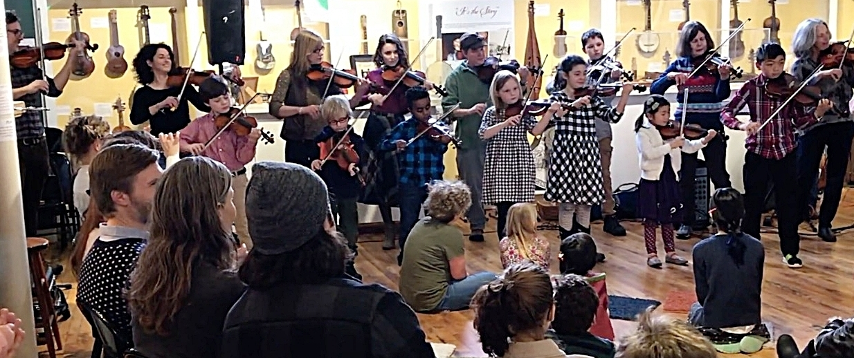 The Madstop Fiddlers   based in Potsdam, New York, under the direction of   Gretchen Koehler  . (Chase Photo)