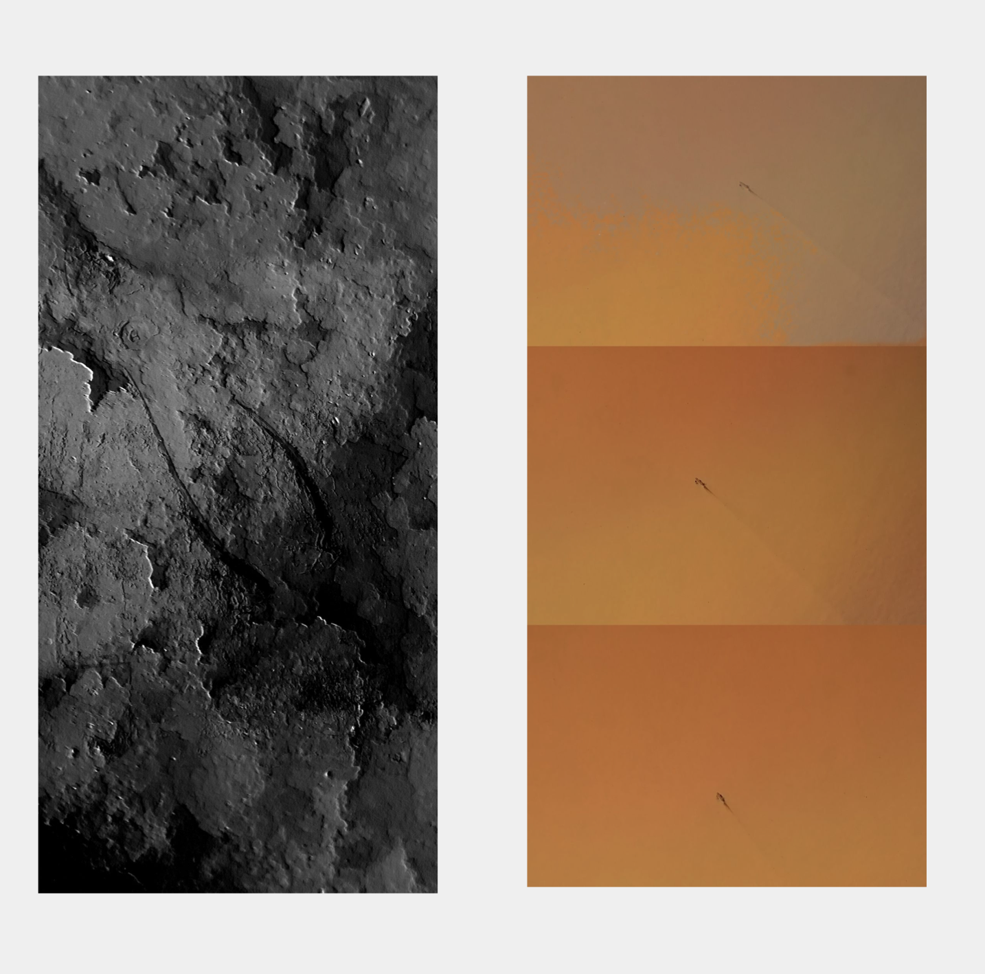 A Wrench Descending (diptych)