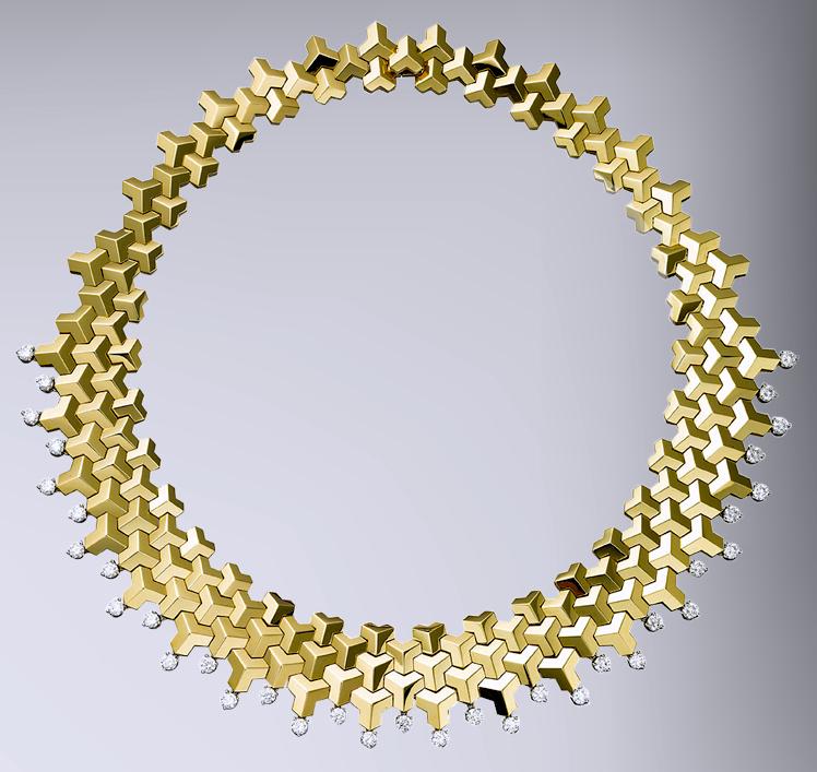 18kt Yellow Gold Brillantissimo Necklace with Diamonds Base.jpg