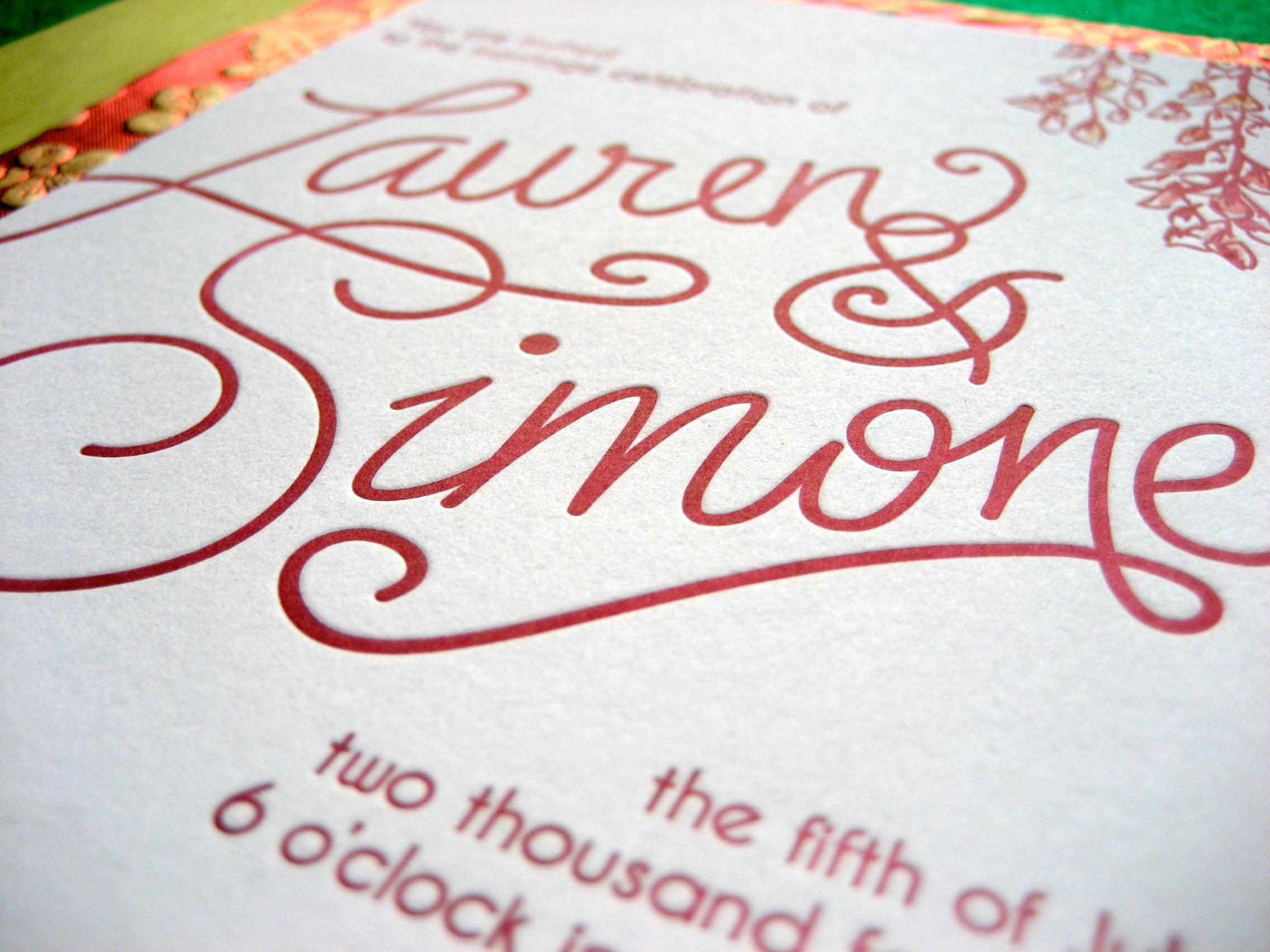 Letterpress & watercolor invitation  Proton Paperie & Press