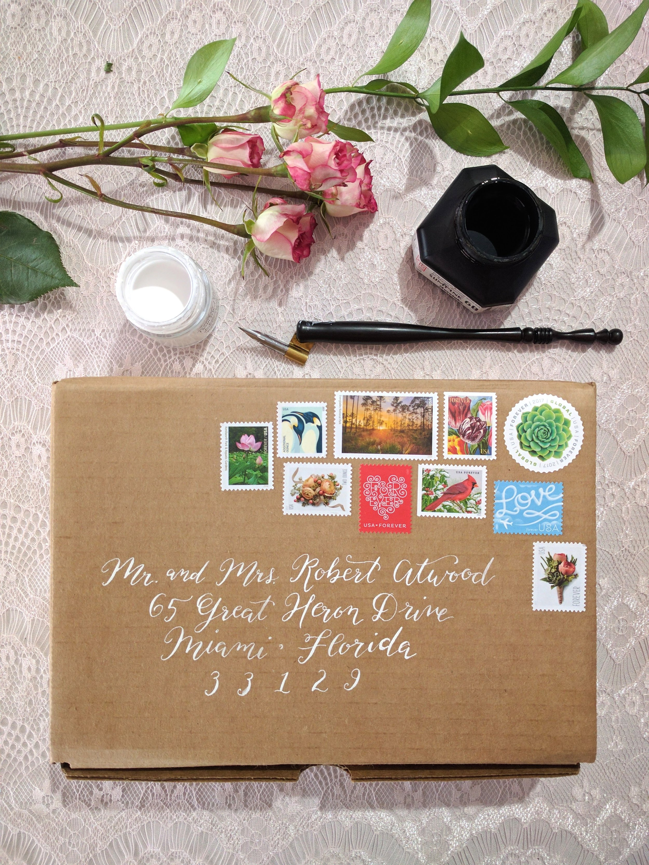 Handcrafted Luxury - We care about the details. Quality matters!With available letterpress printing, hand painted watercolors, specialty art papers, pointed pen calligraphy, and much, much more, your invitations will be the epitome of luxury.Everything is customizable, and anything is possible.