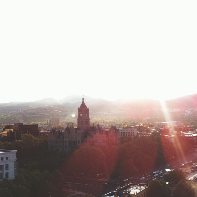 view from our hotel. beautiful Salt Lake City!