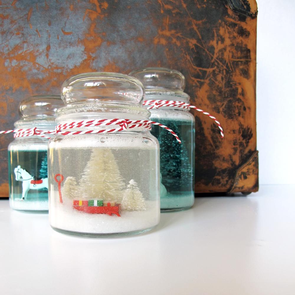 cookie jar snowglobe DIY