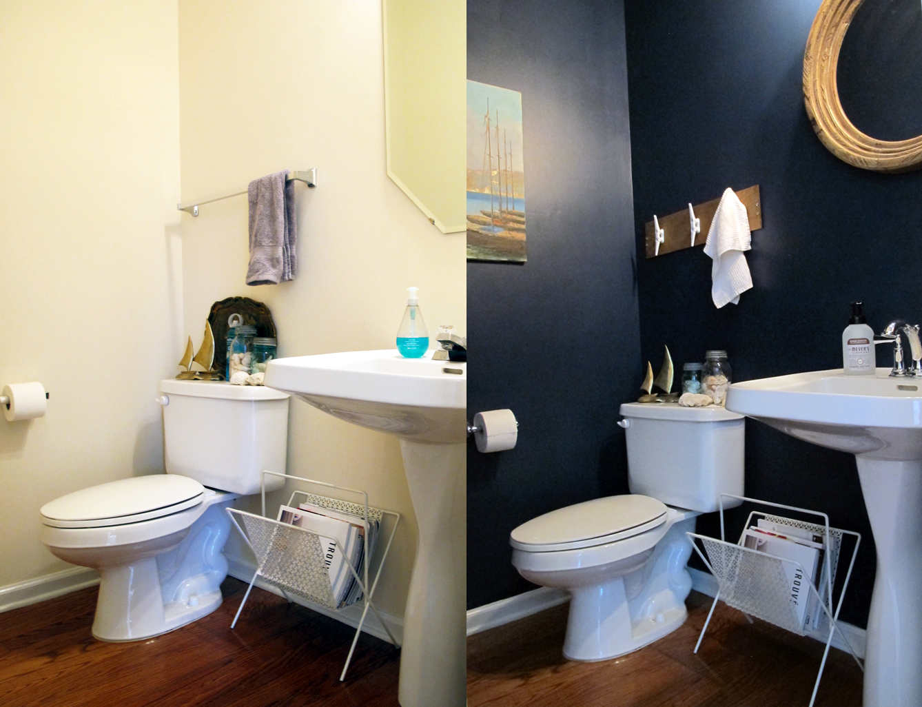 before/after. updating a half-bath for under $750