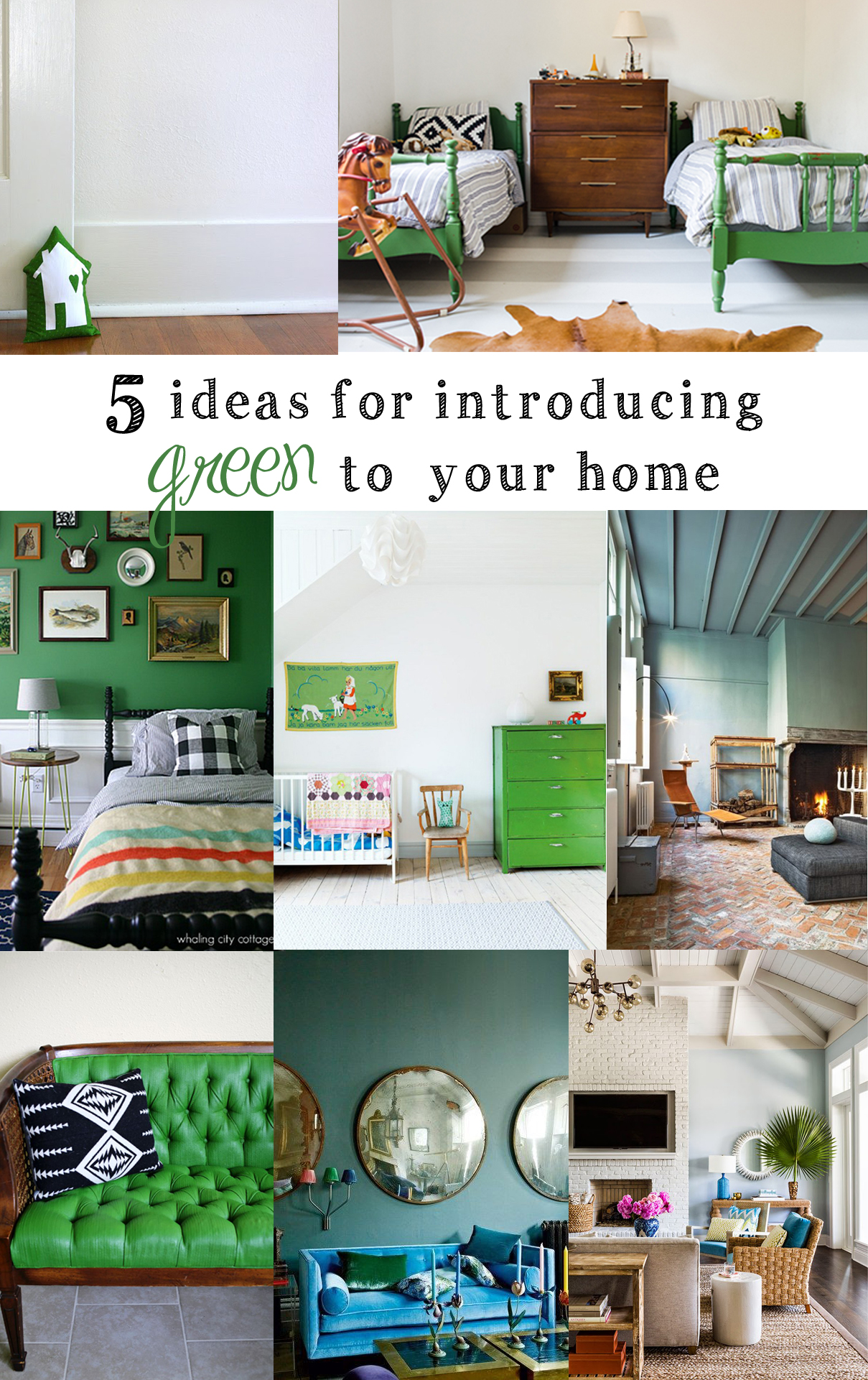 how to decorate with green!   tag&tibby