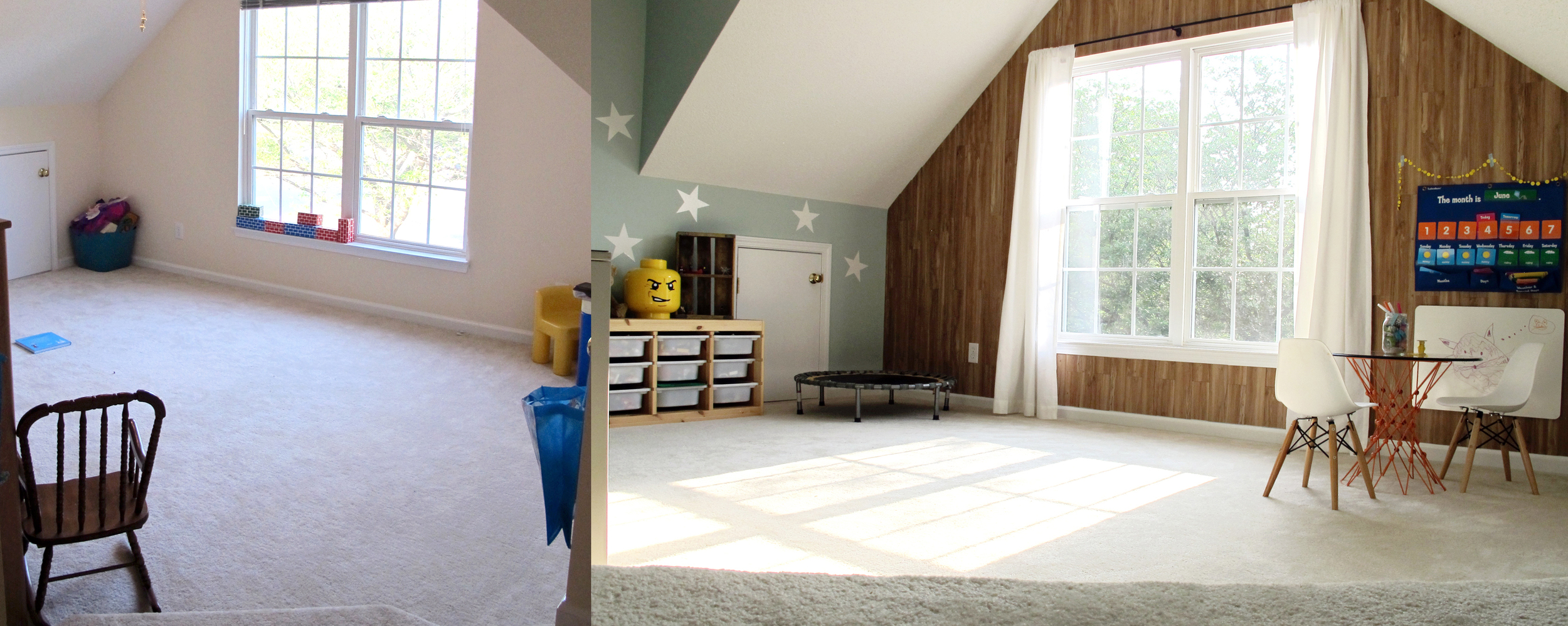 before + after playroom makeover