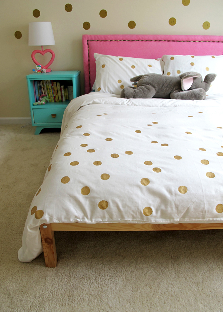 ikea hack! painted dot duvet