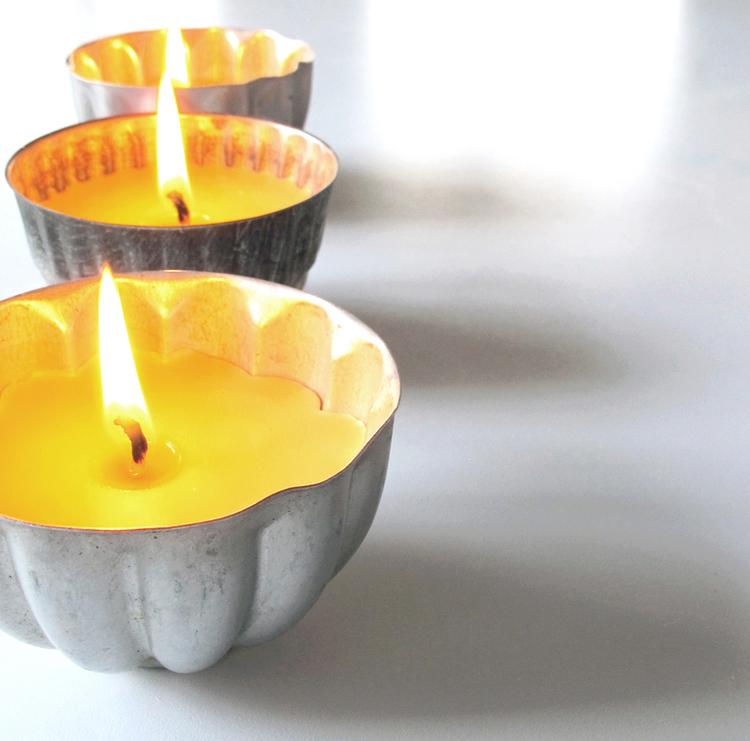 beeswax candles DIY