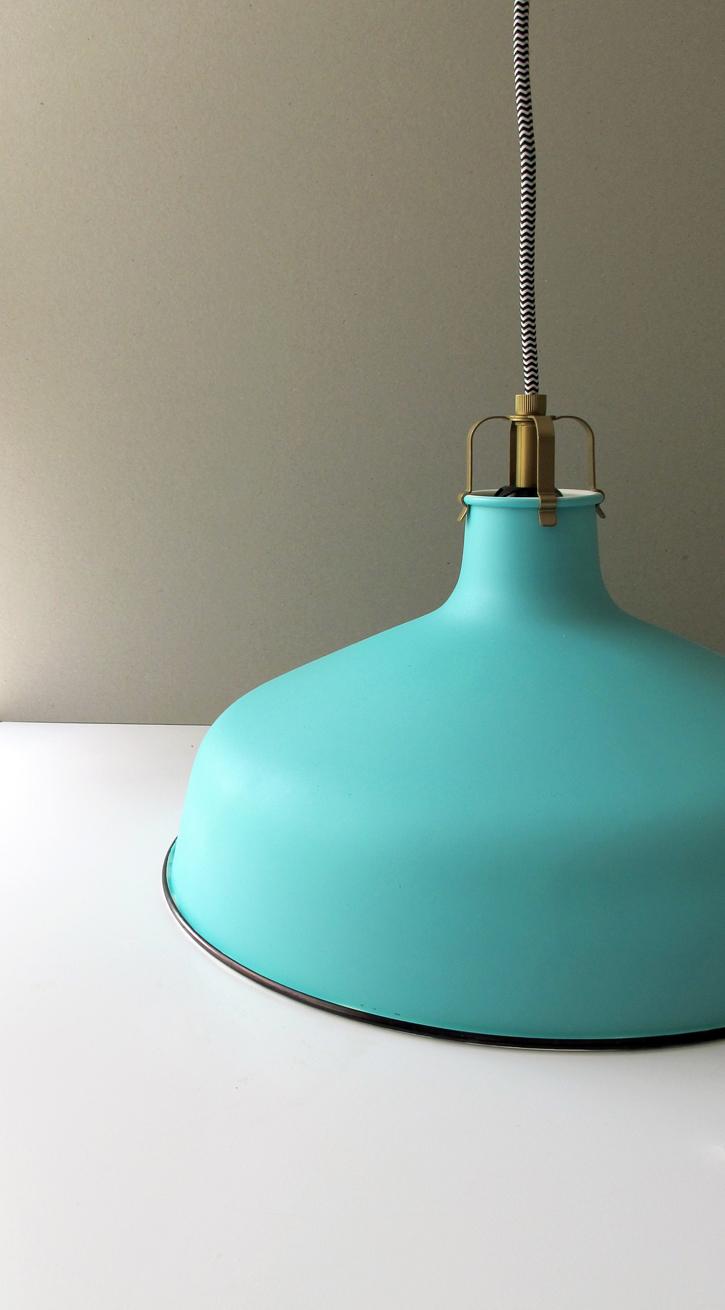 enamel style pendant DIY :: IKEA hack!!