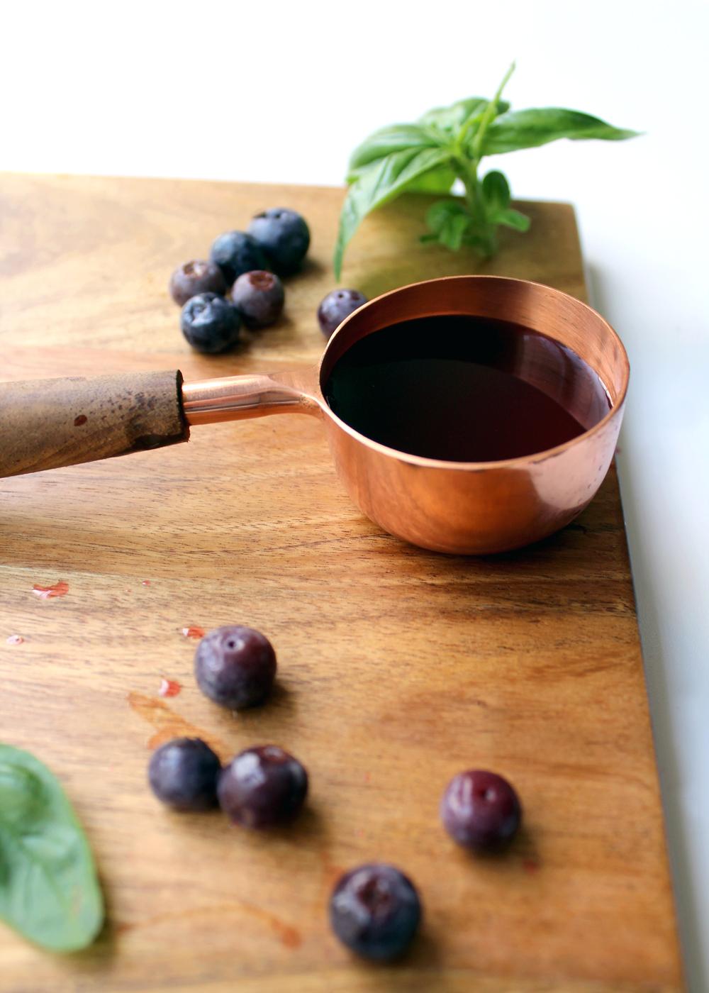 a fresh blueberry basil syrup recipe | tag&tibby