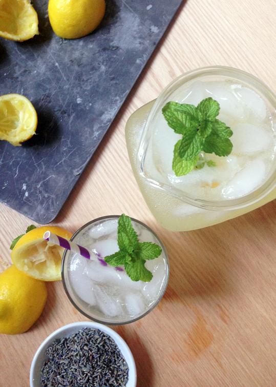 Spiked Lavender Lemonade by Feast + West