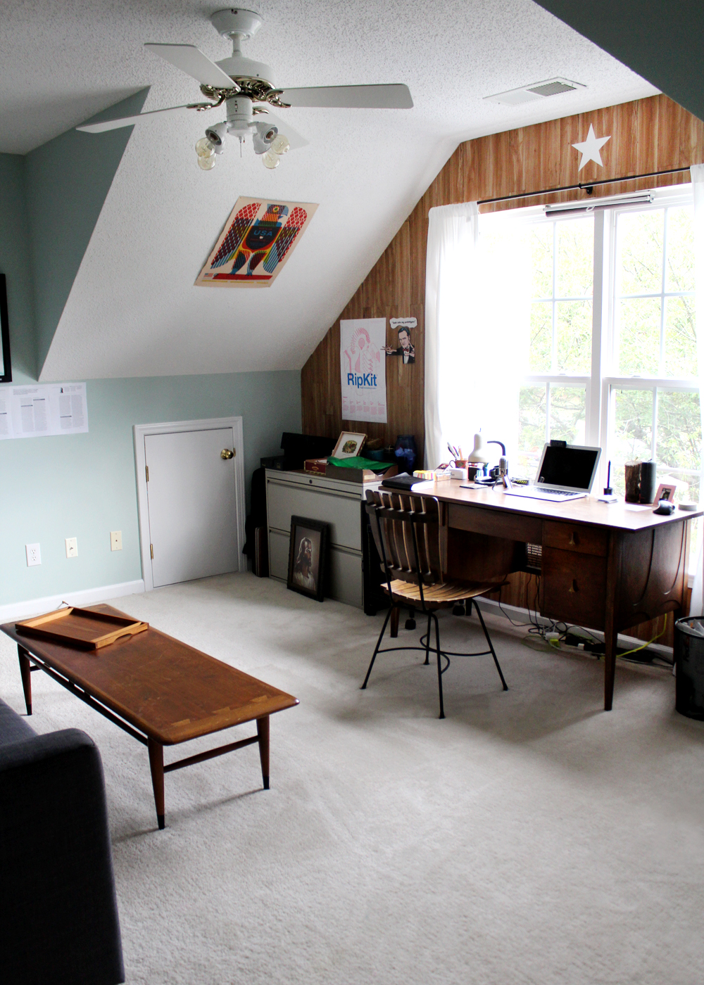 masculine home office makeover