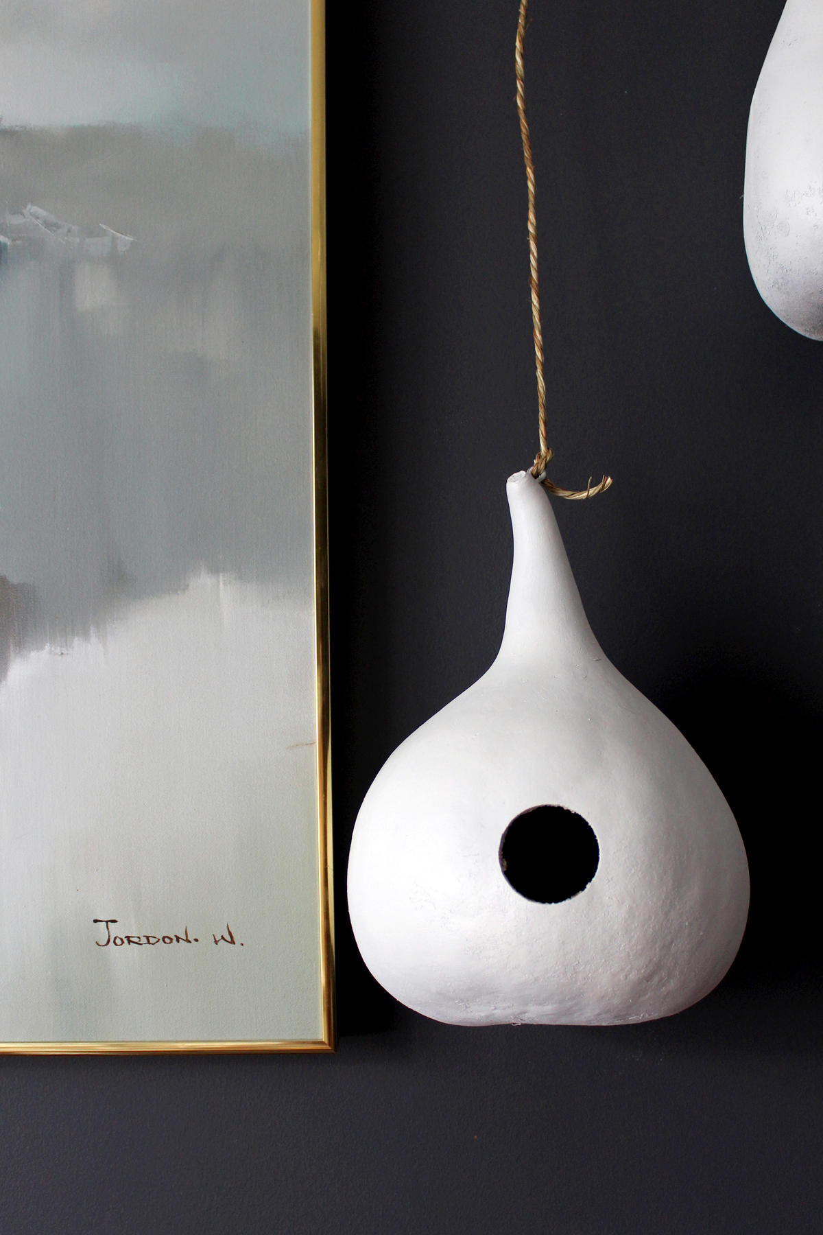 learn how to paint gourds white for a modern look