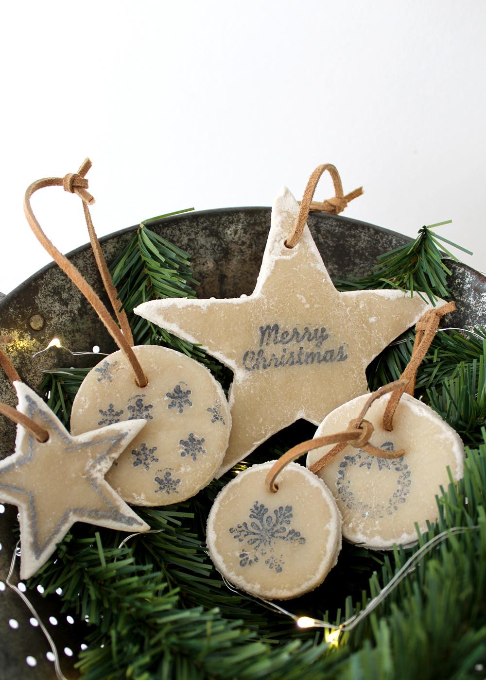 no-bake salt dough ornaments make great Christmas gifts