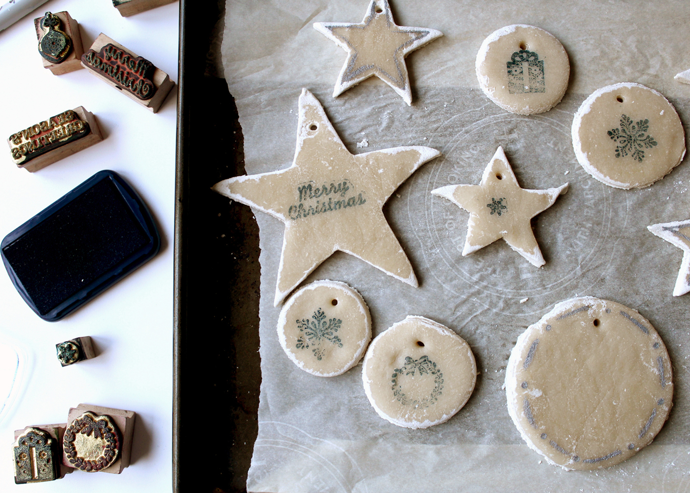Image result for ornaments made from baked dough craft