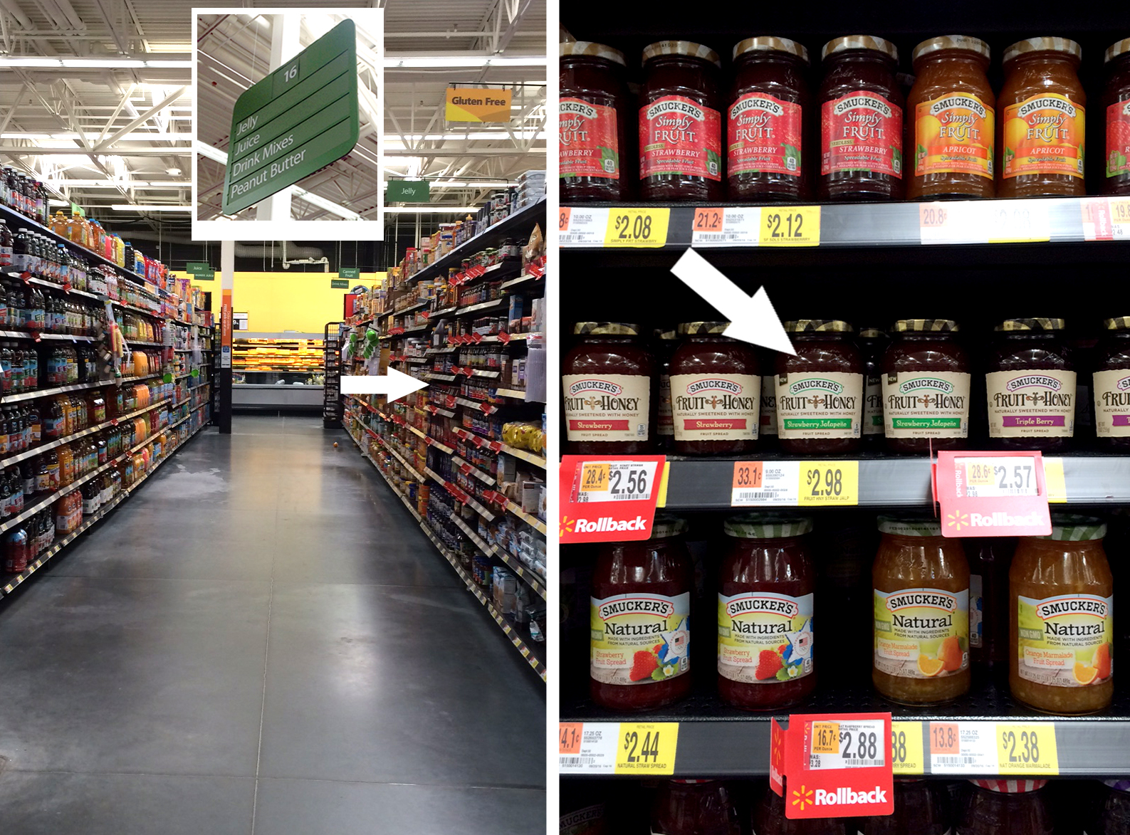 where to find Smucker's Fruit & Honey Fruit Spread