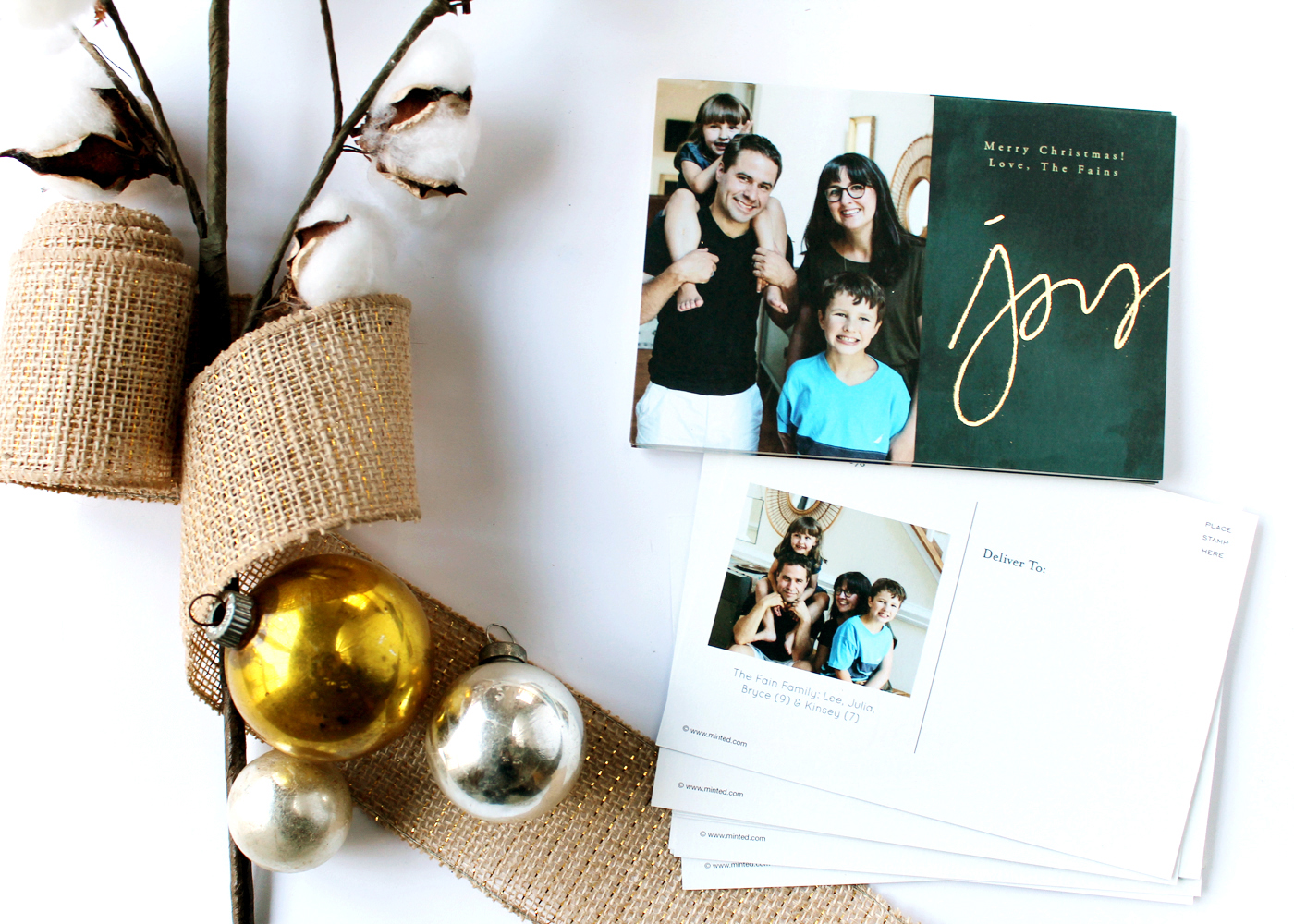 Christmas postcard idea printed by Minted