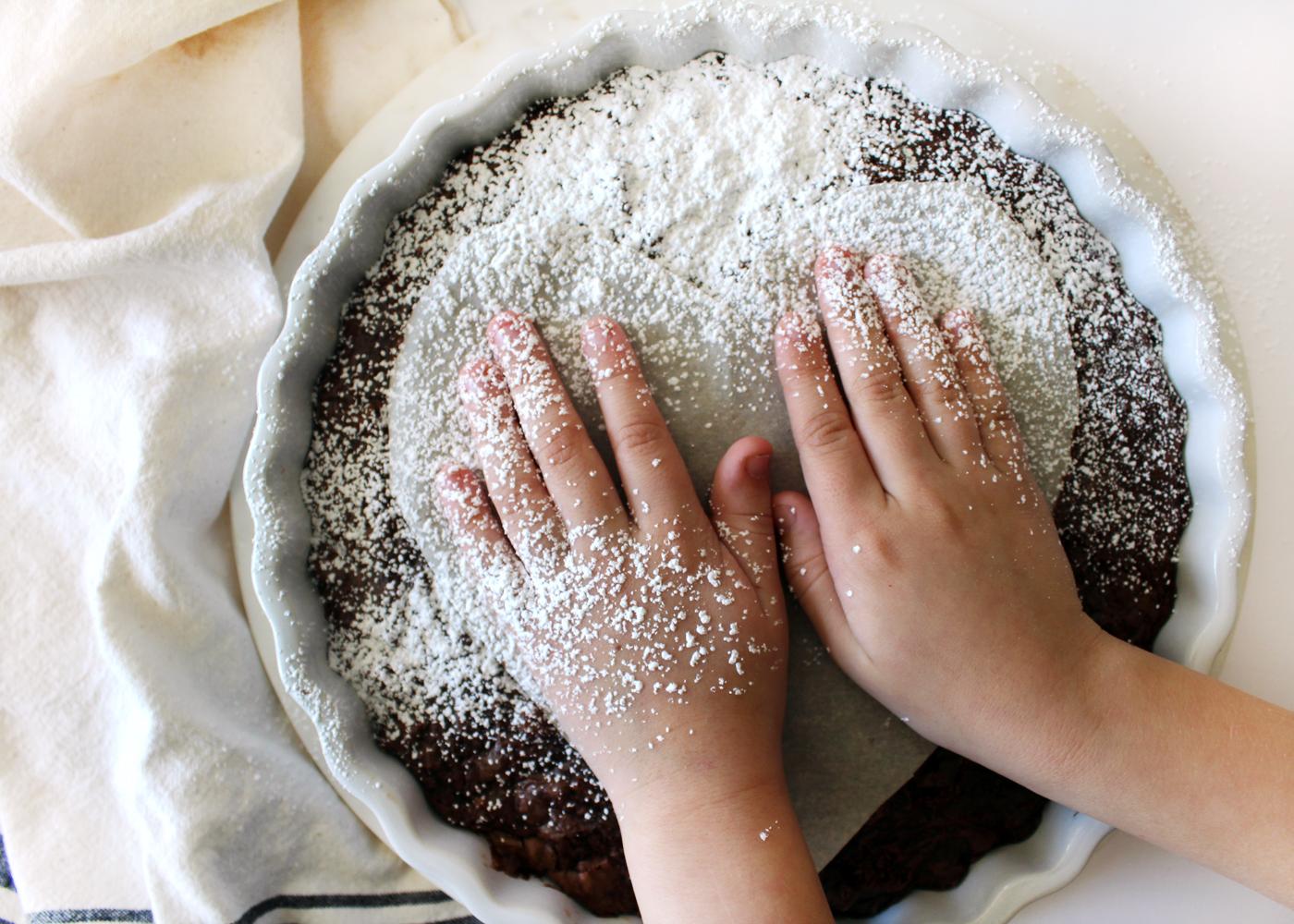 sprinkle powdered sugar