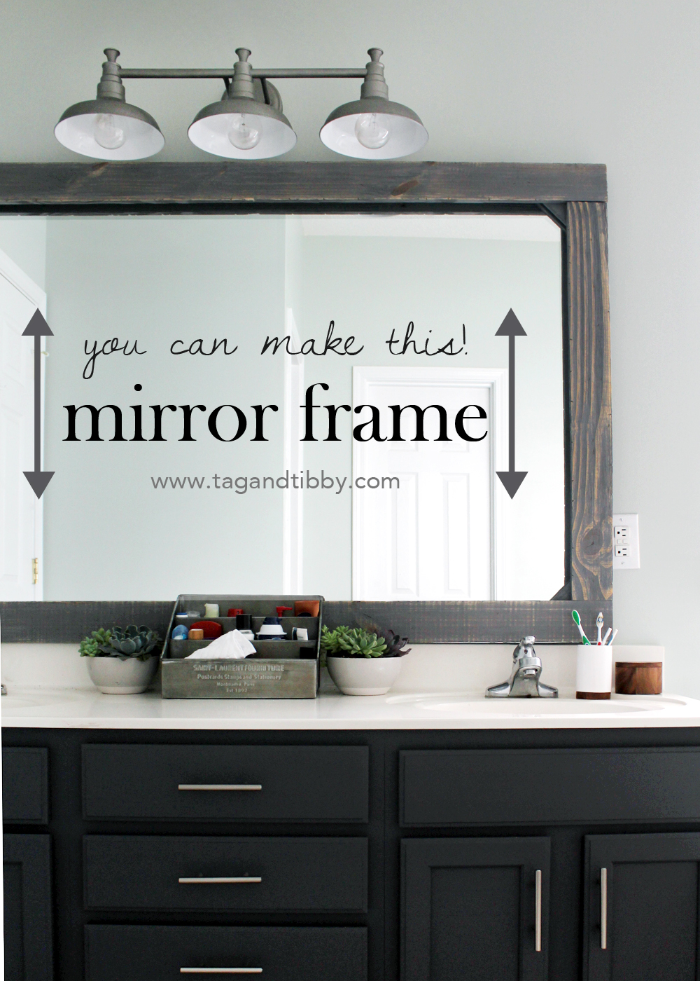 How To Frame A Mirror With Wood Tag Tibby Design