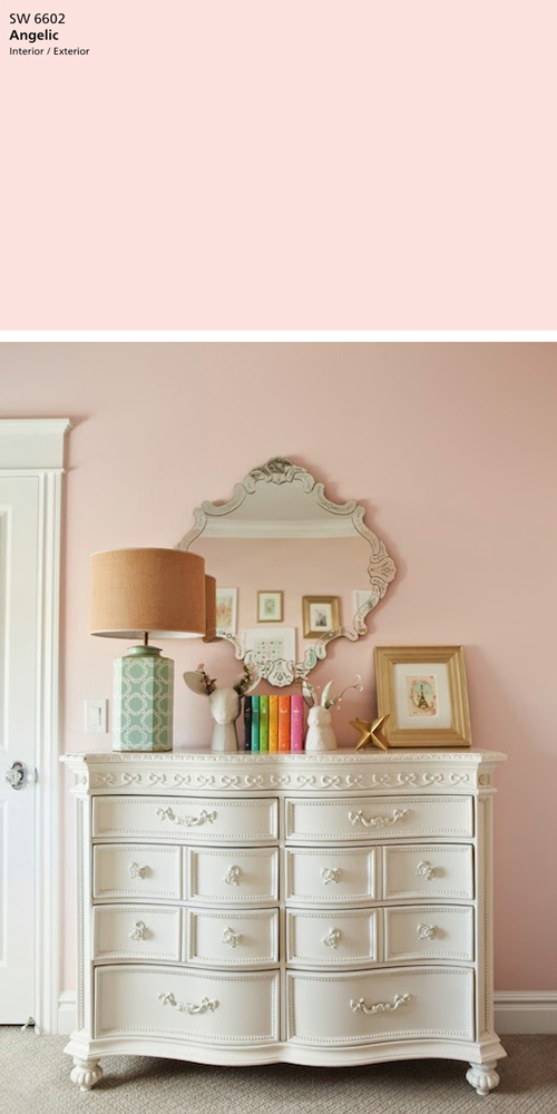 Sherwin Williams Angelic (pink)