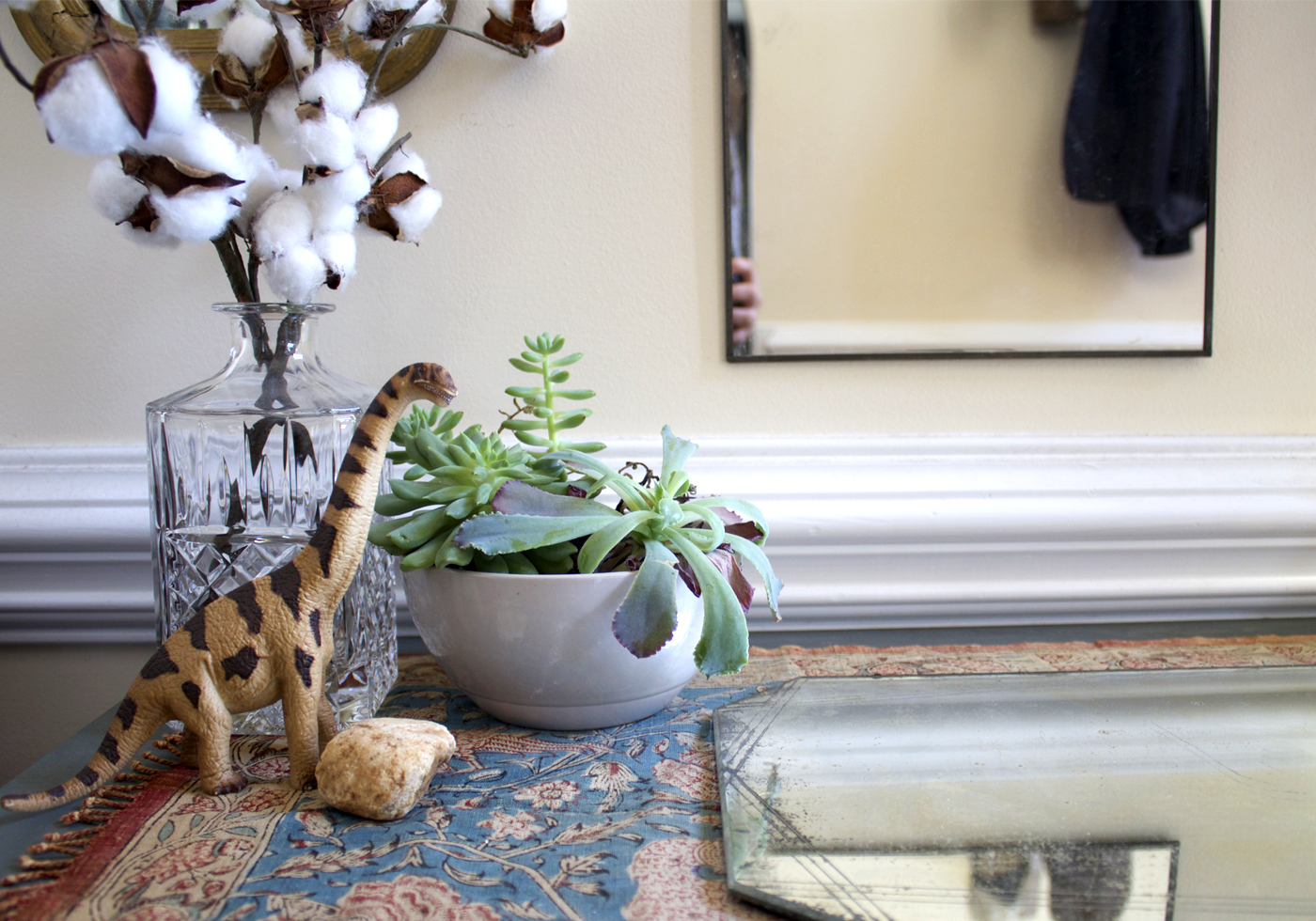 keep a few personal items out to make the space more inviting