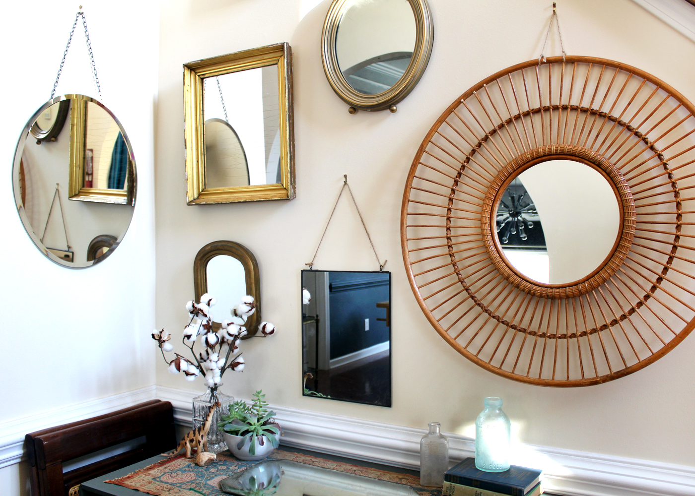 make a mirror gallery wall in 5 steps