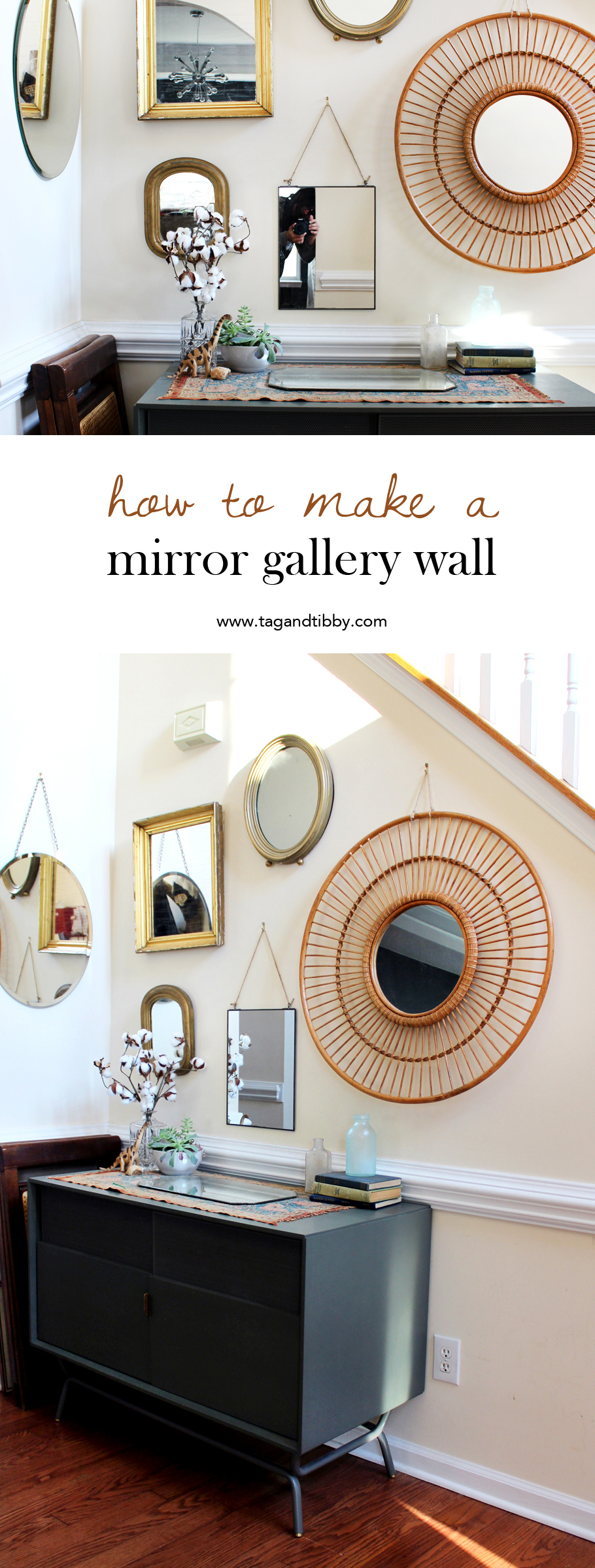 5 tips for designing your own mirror gallery wall | tag&tibby