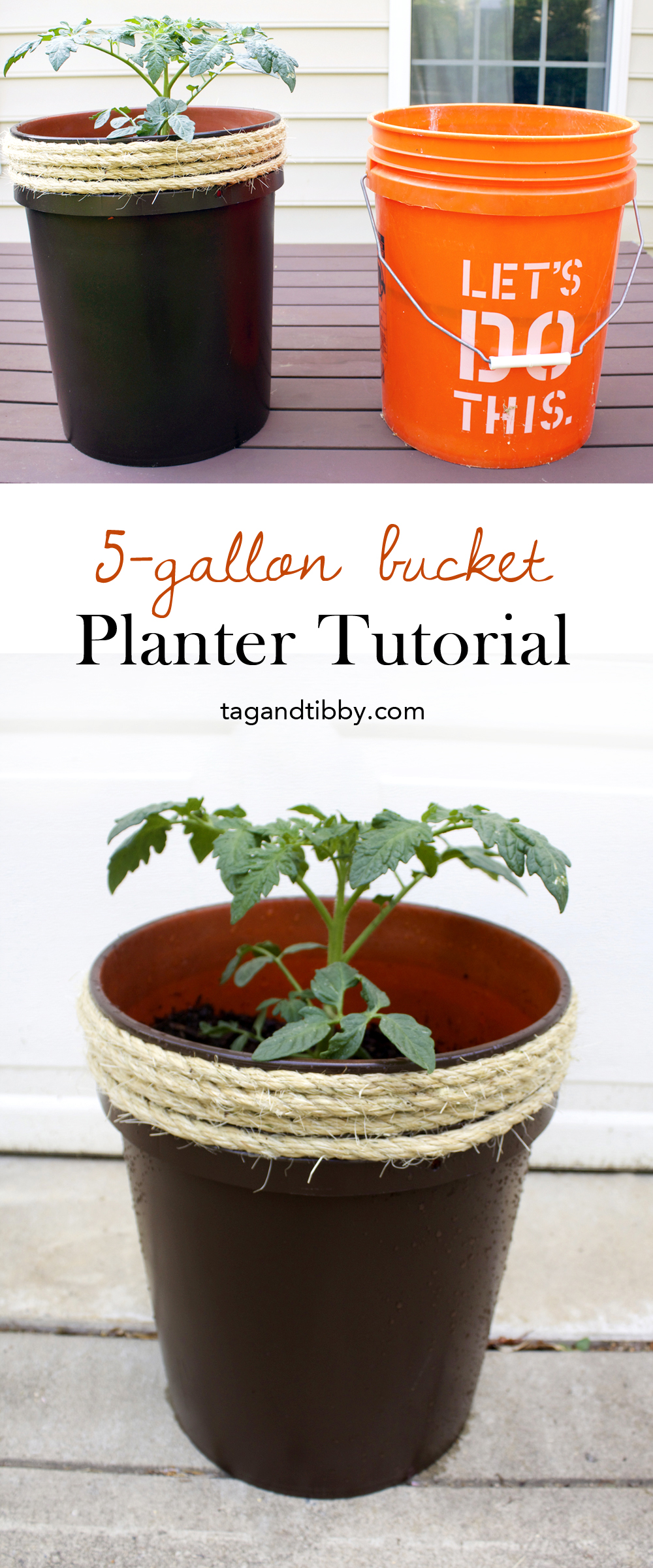 How to Make a Planter From a 5 Gallon Bucket