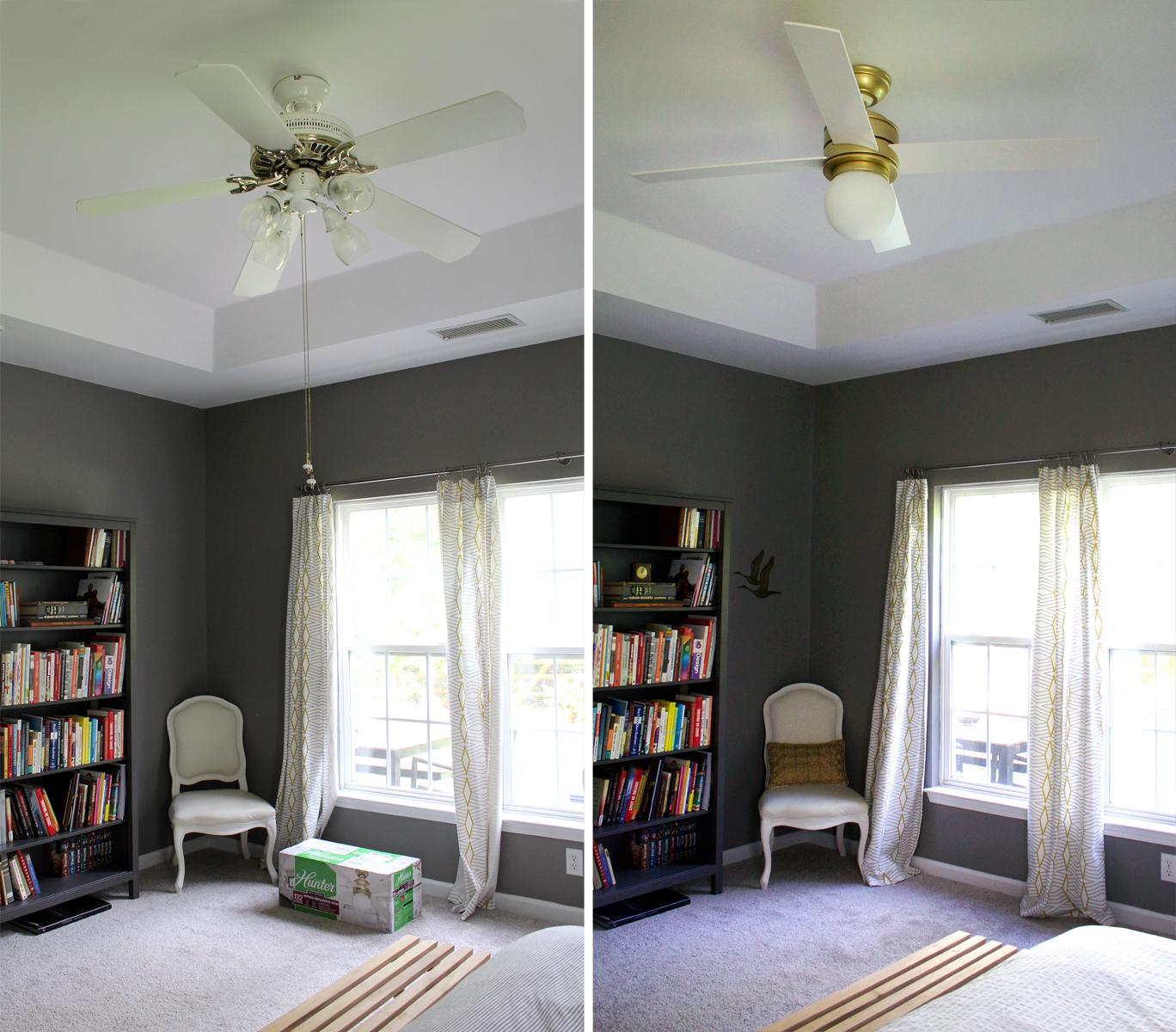 Hunter Fan Hepburn: a modern ceiling fan upgrade for under $200 | tag&tibby