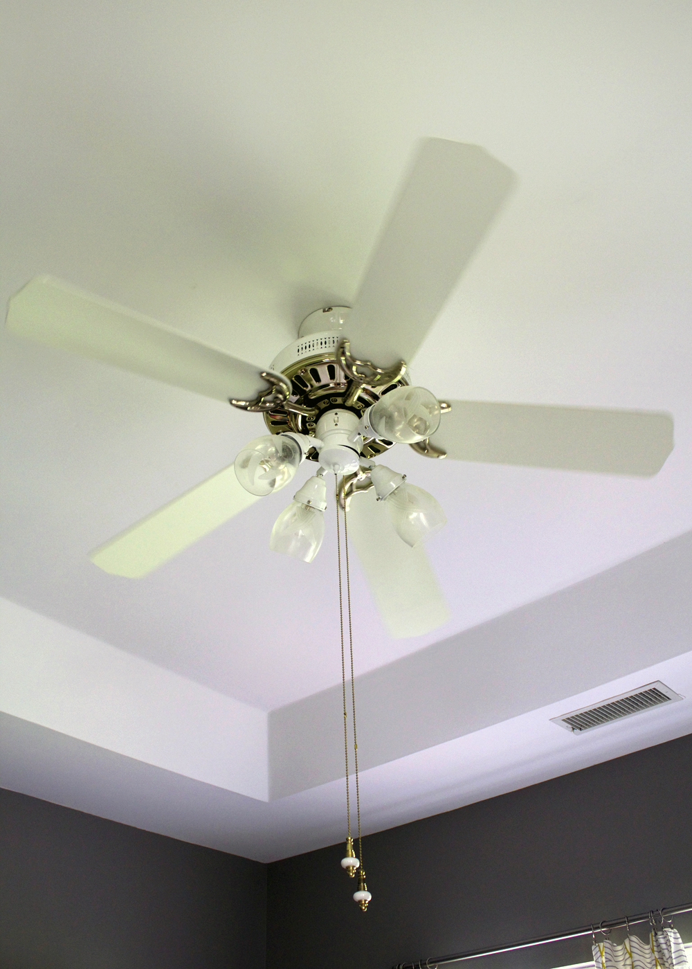 ceiling fan before picture