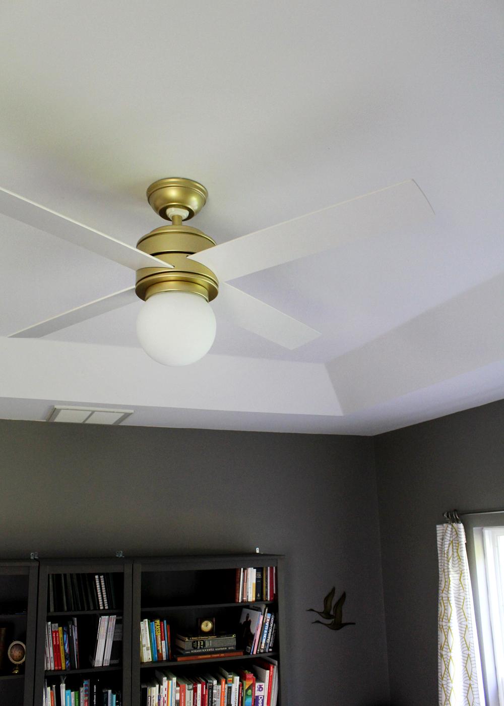 Hunter Fan Hepburn: a modern ceiling fan upgrade for under $200   tag&tibby