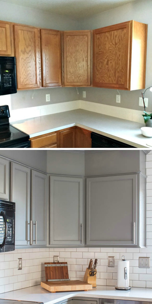 add trim to basic cabinets via Inspiration for Moms