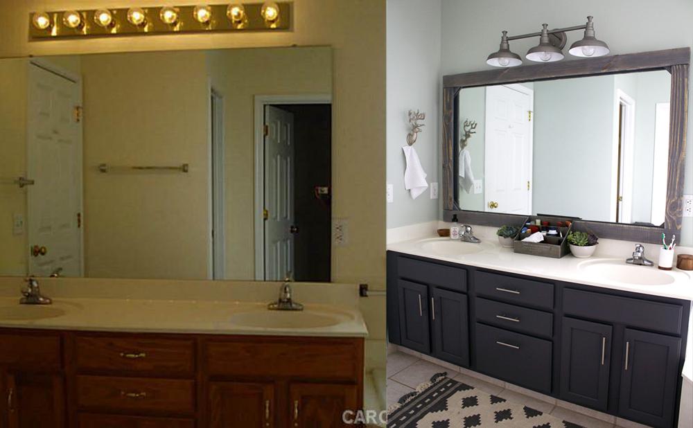 $300 master bathroom makeover (SW Sea Salt + Peppercorn) | Tag&Tibby