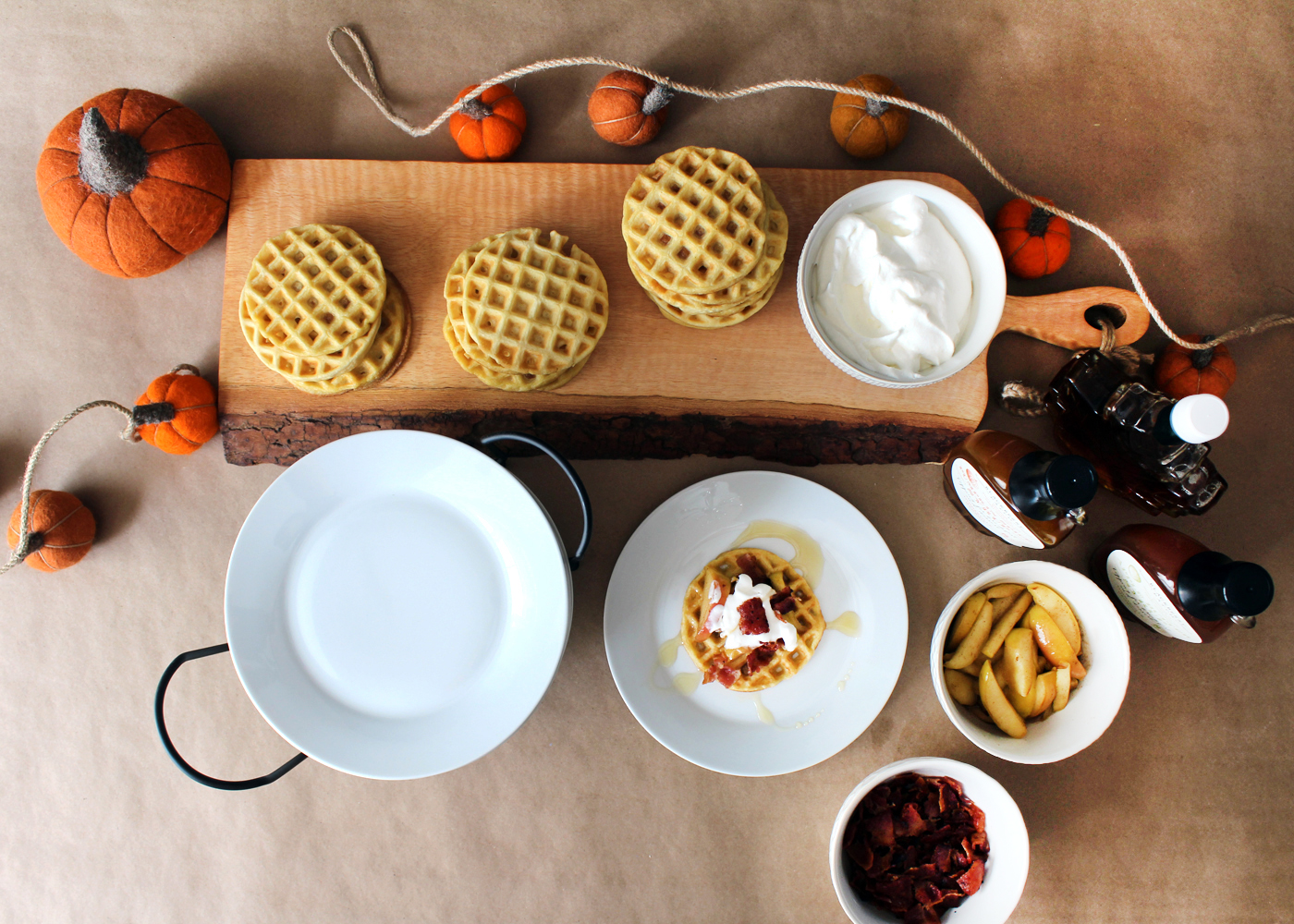 How to Create Your Own Autumn-Themed Waffle Bar! for @worldmarket #worldmarket #ad #worldmarkettribe